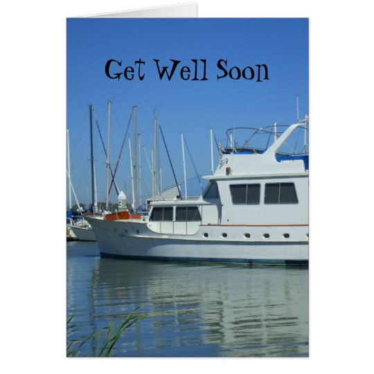 Get Well Soon Yacht greeting card