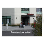 Get Well: Sorry about your accident Greeting Card