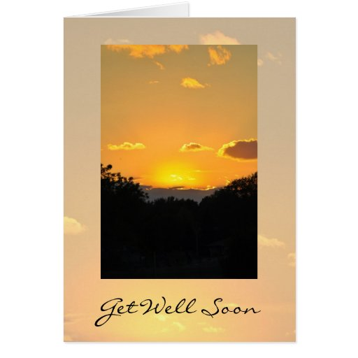 Get Well Sunset Card