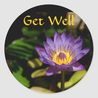 Get Well, Water Lily Stickers