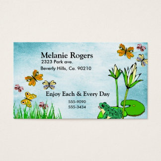 Get Well Water Pond Set Business Card