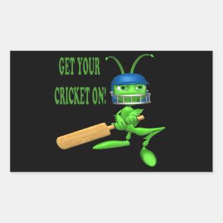 Get Your Cricket On Rectangular Sticker