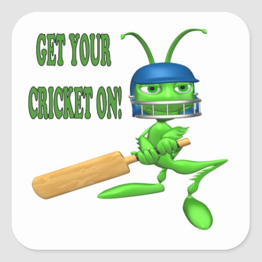 Get Your Cricket On Sticker