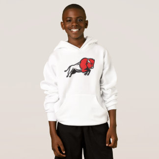 Get your EDDIE the BISON kids hoodie from EDUKAN