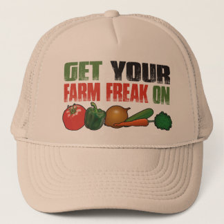 Get Your Farm Freak On Funny Gardening Trucker Hat