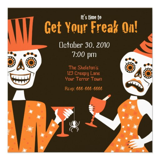 Get Your Freak On Personalized Invitations