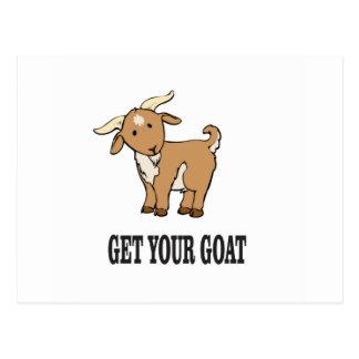 get your goat joke postcard