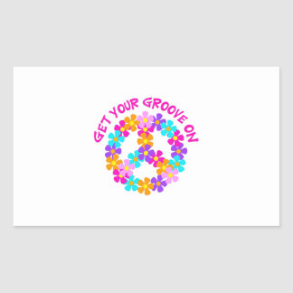 Get Your Groove On Rectangular Sticker