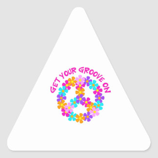Get Your Groove On Triangle Stickers