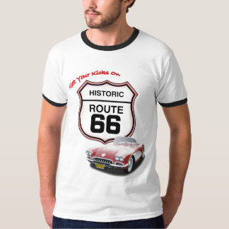Get your Kicks on Route 66--Red Car T T-Shirt