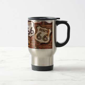Get Your Kicks On Route 66 Stainless Steel Travel Mug