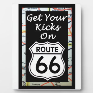 Get Your Kicks On Route 66 With Map Display Plaque