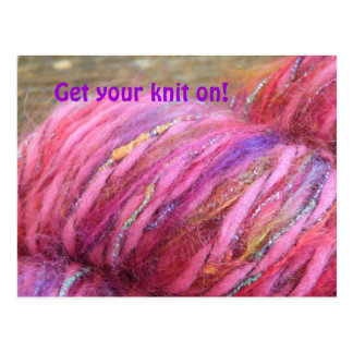 Get your knit on! postcard