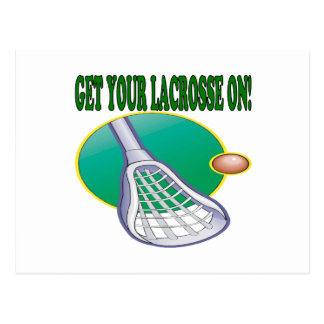 Get Your Lacrosse On Postcard