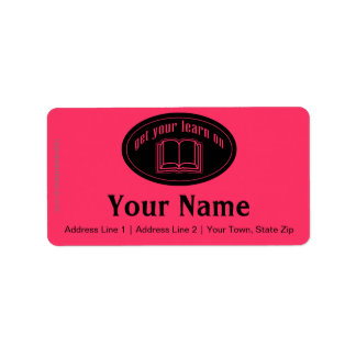 Get Your Learn On School Book Address Label