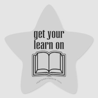Get Your Learn On School Book Star Sticker