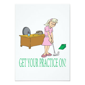 Get Your Practice On 13 Cm X 18 Cm Invitation Card