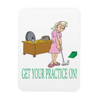 Get Your Practice On Rectangular Photo Magnet
