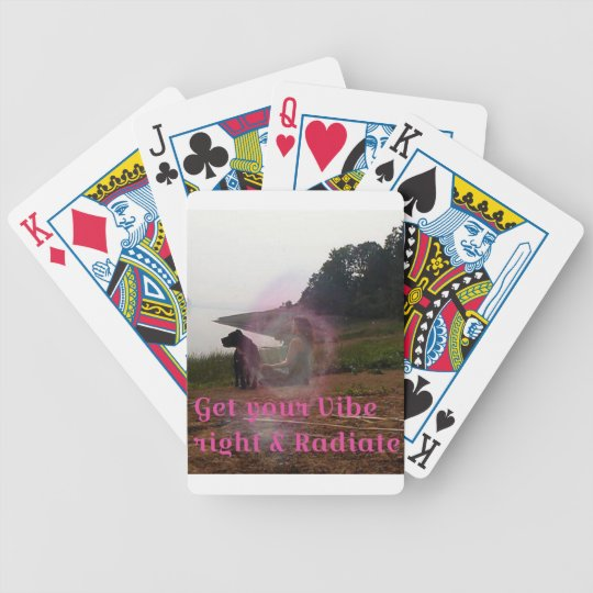 Get your vibe right bicycle playing cards