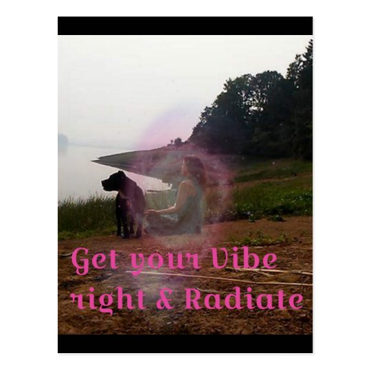 Get your vibe right postcard