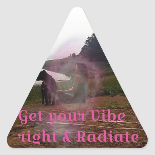 Get your vibe right triangle sticker