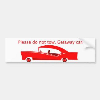 Getaway Car! Bumper Sticker