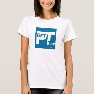 GetPT1st women's shirt with logo