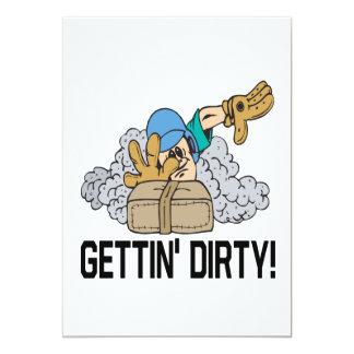 Gettin Dirty 13 Cm X 18 Cm Invitation Card