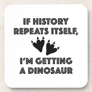 Getting A Dinosaur Drink Coaster