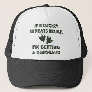 Getting A Dinosaur Trucker Hat