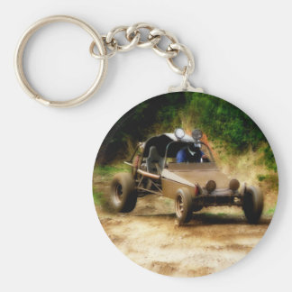 Getting Air in a Dune Buggy Basic Round Button Key Ring