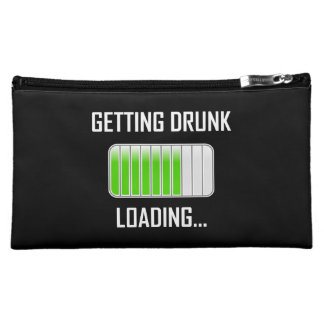 Getting Drunk Loading Funny Cosmetic Bag