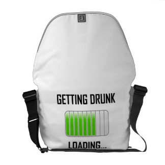 Getting Drunk Loading Funny Courier Bag