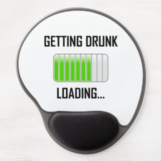 Getting Drunk Loading Funny Gel Mouse Pad