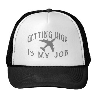 Getting High Airline Pilot Mesh Hats
