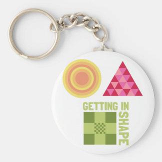 Getting In Shape Keychain