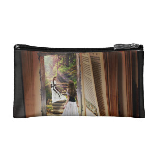 Getting Lost in imagination while reading book Cosmetic Bag