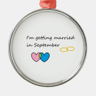 getting married 2 Silver-Colored round decoration