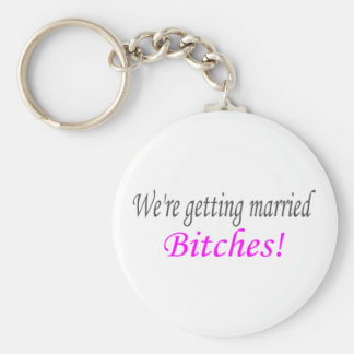 Getting Married Basic Round Button Key Ring