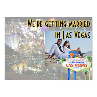 Getting Married in Las Vegas Photo Card
