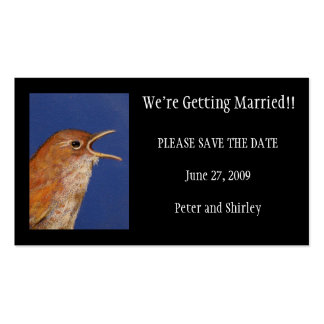GETTING MARRIED SAVE THE DATE CARD PACK OF STANDARD BUSINESS CARDS