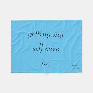 Getting My Self Care On Fleece Blanket
