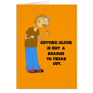 getting older greeting card