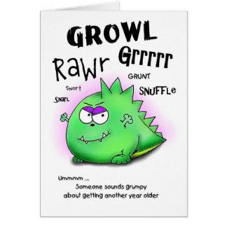 Getting Older Grumpy Dino Birthday Card