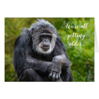Getting Older Sucks Fun Animal Gorilla Birthday Card