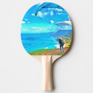 Getting ready to soar ping pong paddle