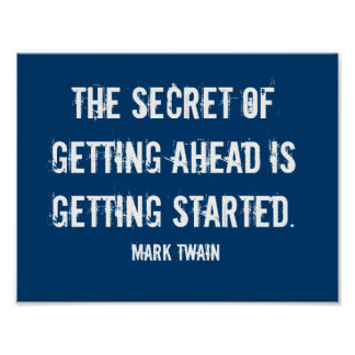 Getting Started Mark Twain Poster