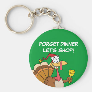 Getting Through the Holiday Season to Christmas Basic Round Button Key Ring