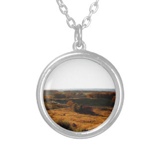 Gettsburg Sunset Round Pendant Necklace
