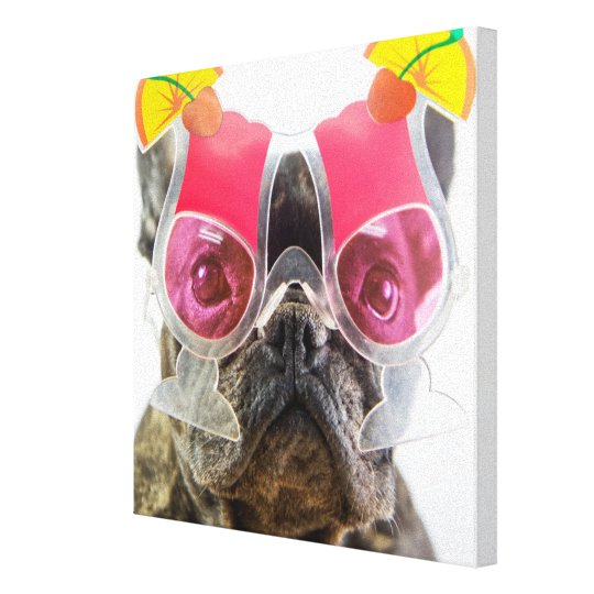 Getty Images | Dog With Cocktail Glasses Canvas Print